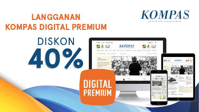 #Blibli - #Promo Diskon 40% Langganan Kompas Digital Premium (s.d 15 Feb 2019)