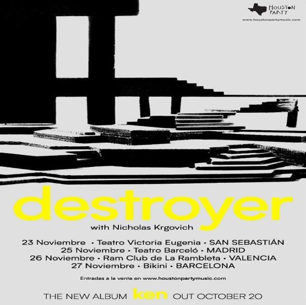 Gira española de Dan Bejar con Destroyer 1