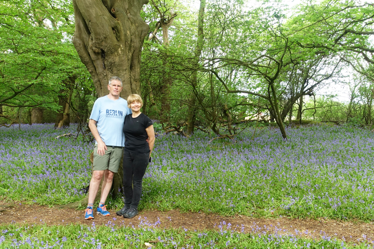 Is This Mutton blogger and husband in a secret bluebell wood outside London, spring 2018
