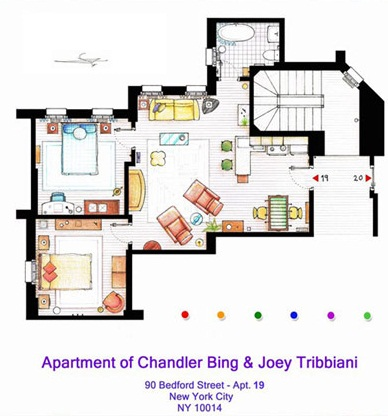 The Domestic Curator 10 Floor Plans Of Most Famous Tv Apartments In World