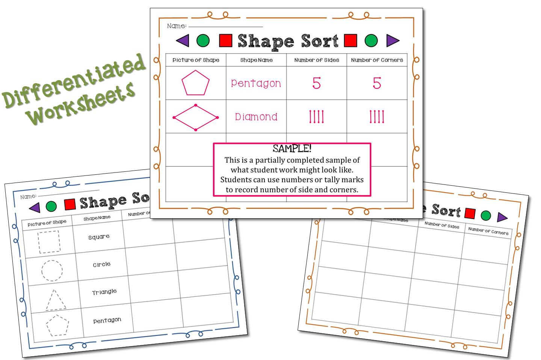 Shape Sort Worksheet