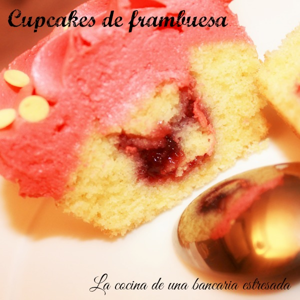 Receta de cupcakes de frambuesa