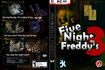 Jogo Five Nights At Freddy's 3 PC DVD Capa