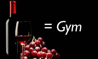 Un pahar de vin, egal cu o ora de sport