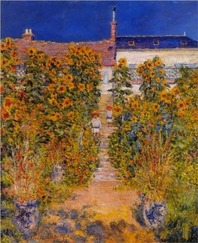 Claude Monet Le jardin de l′artiste a Vetheuil. 1881
