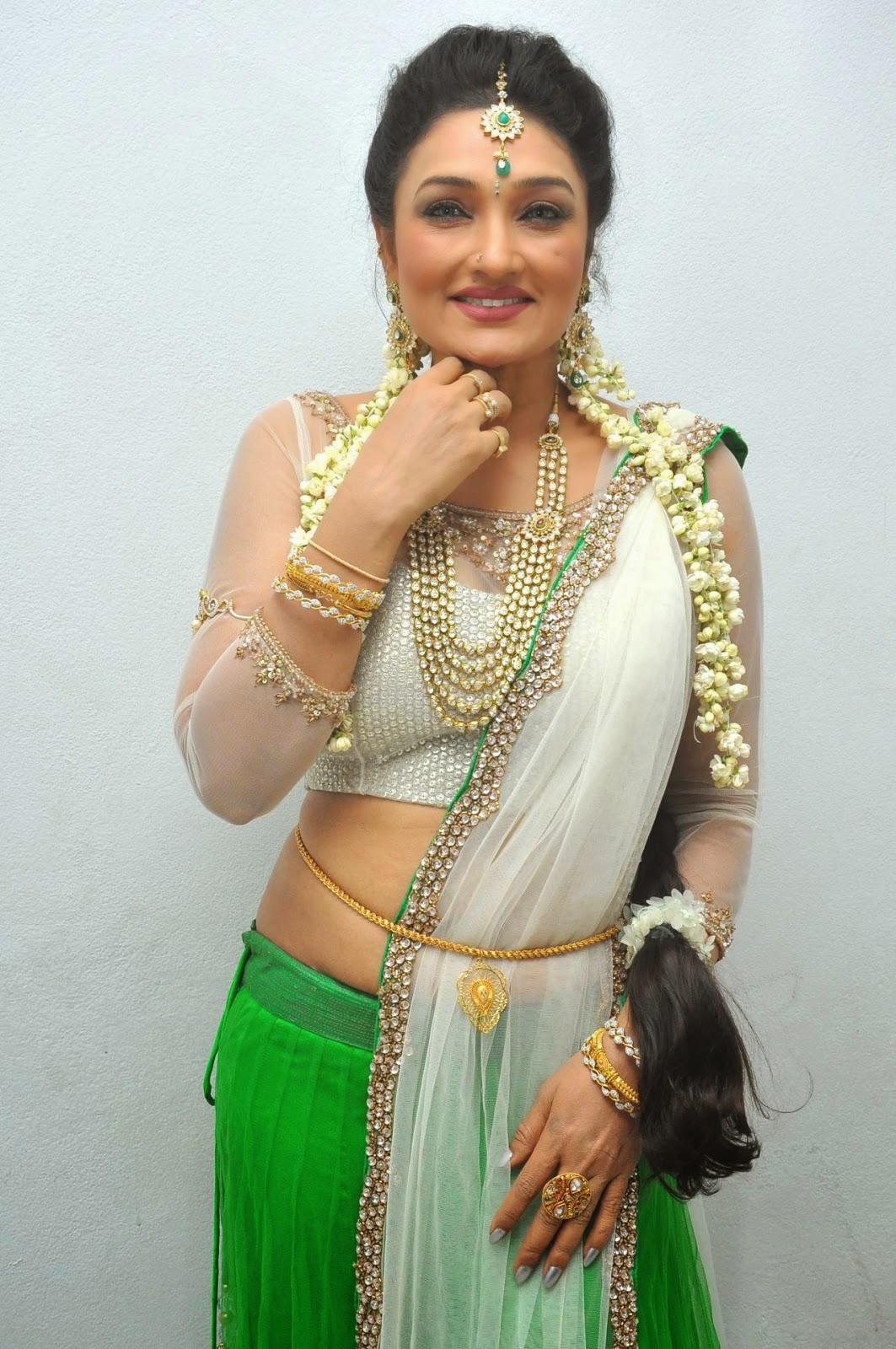 Ramya Sri Hot Photos In Half Saree At O Malli Audio Launch -8202
