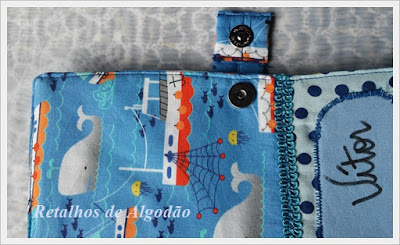 Capa personalizada para caderneta de vacinação feita em tecido