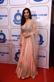 Bollywood Actress Model Sophie Choudry Stills in a Beautiful Dress at The Annual Central Excise Day Celetion  0012.jpg