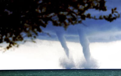 Water Spout Lake Michigan