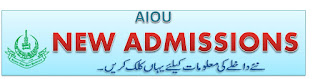 Latest AIOU BA General Admissions