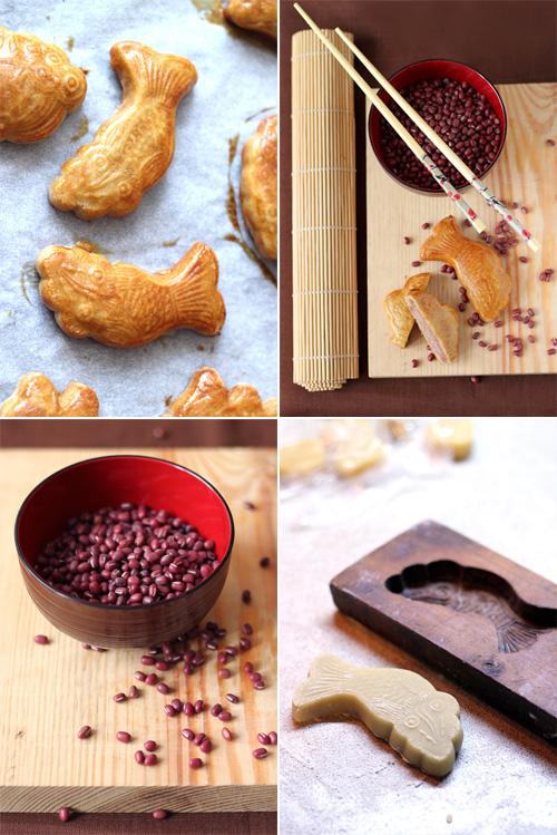 chińskie ciastka księżycowe nadziewane słodką fasolką adzuki