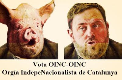 Vota oinc , orgía indepenacionalista de Cataluña, Oriol Junqueras