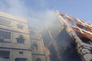 حريق هائل بالمنطقة التاريخية فى جدة بالسعودية ، دون وقوع إصابات بشرية