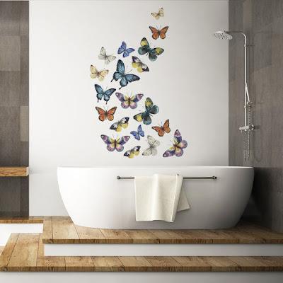 vinilo para paredes de mariposas multicolor 2013