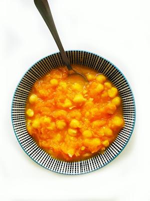 plato de calabaza y garbanzos
