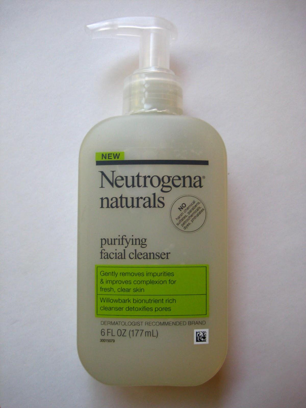 Green Beauty Neutrogena Naturals Purifying Face Cleanser