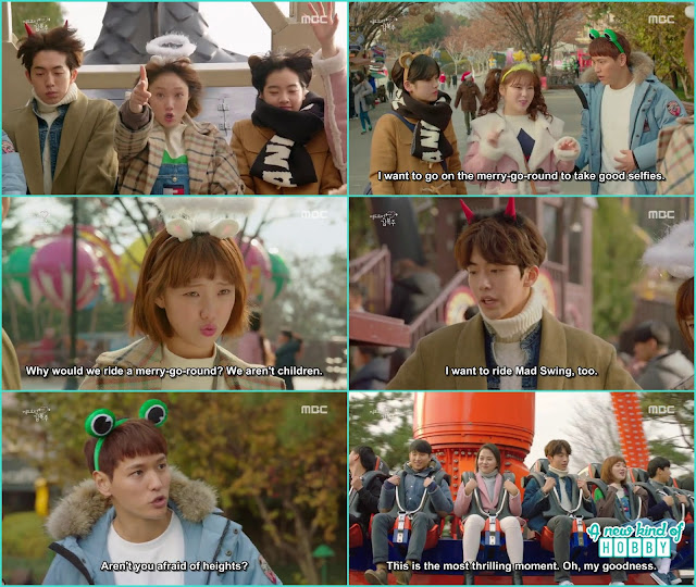 joon hyung with bok joo take all the swings being afraid of heights -  Weightlifting Fairy Kim Bok Joo: Episode 12