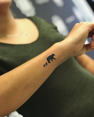 small bear tattoo