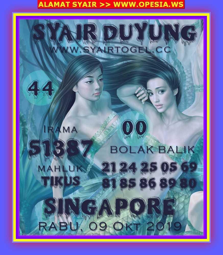 Kode syair Singapore Rabu 9 Oktober 2019 105