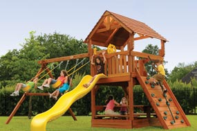 Wood Swing Sets Best Choice For Your Kids