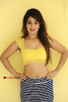 Cute Telugu Actress Shunaya Solanki High Definition Spicy Pos in Yellow Top and Skirt  0516.JPG