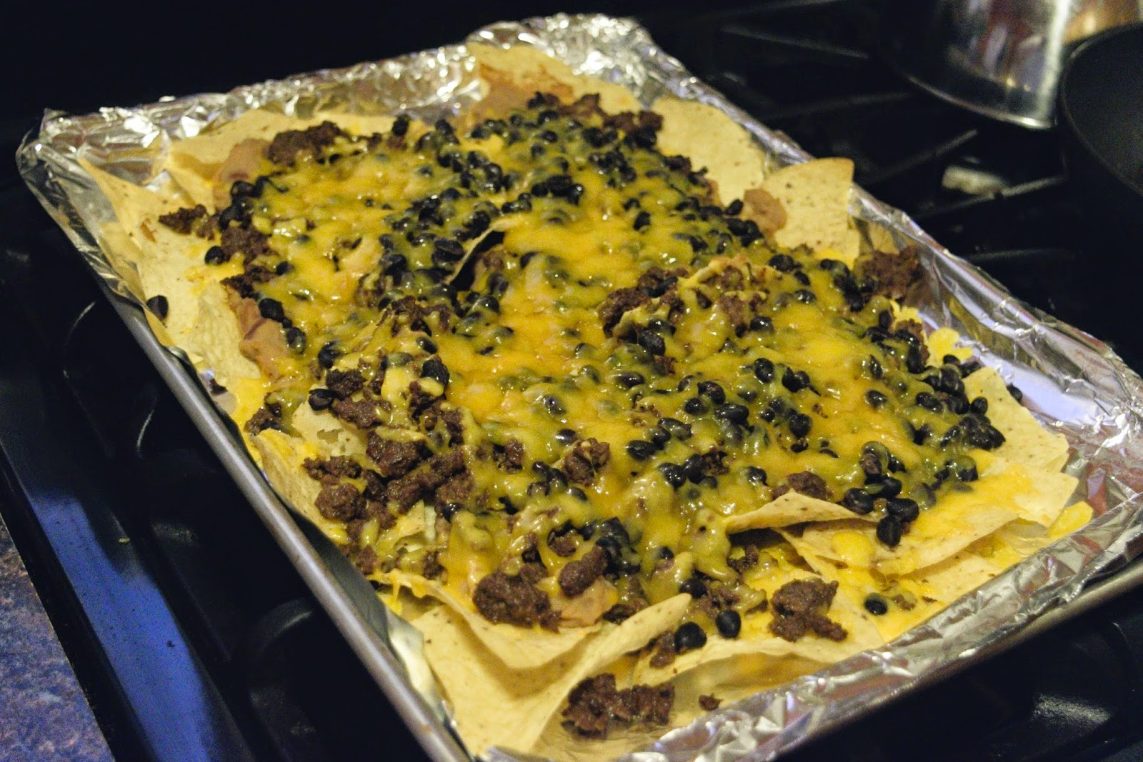 The Nachos Supreme out of the oven .