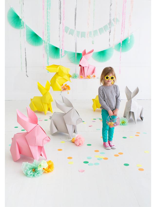 Giant Diy Origami Bunnies