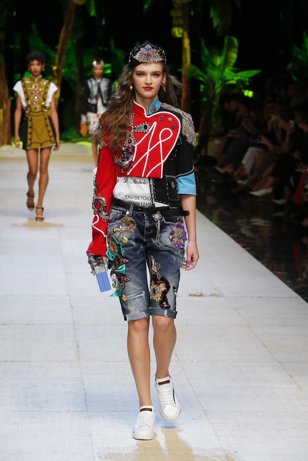 Dolce K Dupe Colourpop: Dolce & Gabbana Spring Summer 2017 Woman Fashion Show
