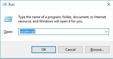 Mengakses advanced system setting menggunakan cmd
