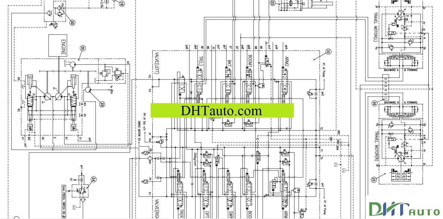 doosan schematics hydraulic  u0026 electrical full