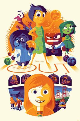 Inside Out Disney/Pixar Screen Print by Tom Whalen & Cyclops Print Works