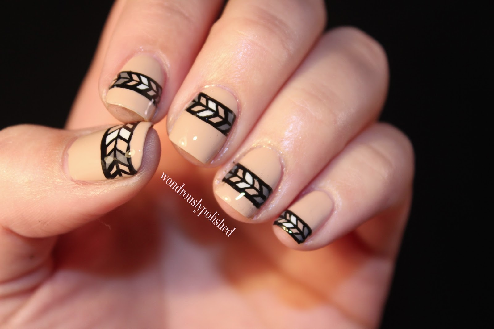Nails Art: Wondrously Polished: Simple Tribal Print & Zoya's Avery