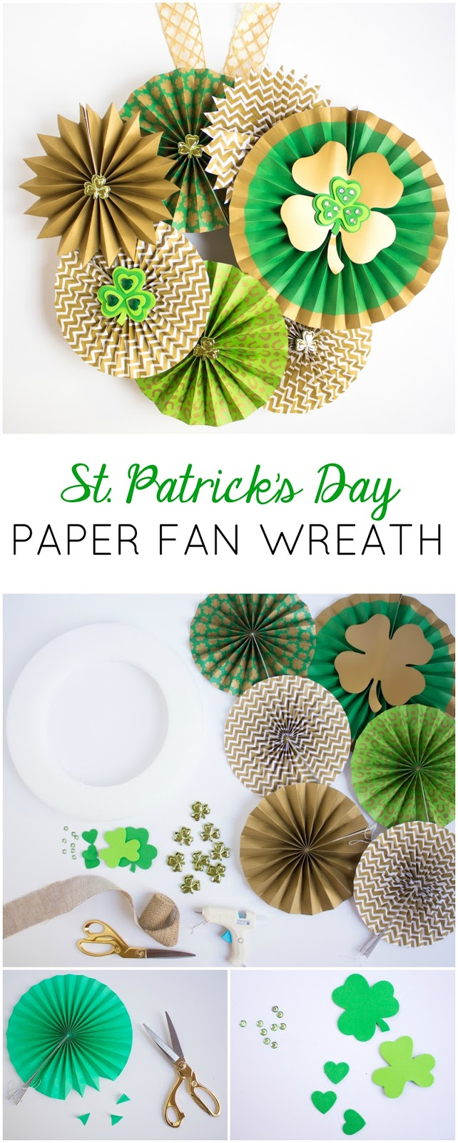 The prettiest St. Patrick's Day shamrock wreath you ever did see!