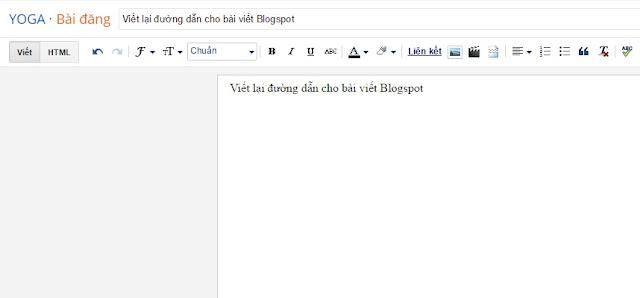 Viết lại đường dẫn cho bài viết Blogspot