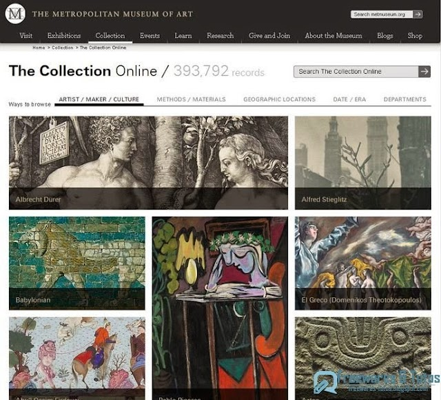 Le site du jour : Les archives (400 000 images) du Metropolitan Museum of Art accessibles en ligne