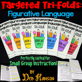 Figurative Language Tri-folds! These engaging tri-folds are ideal to use with small groups of students!