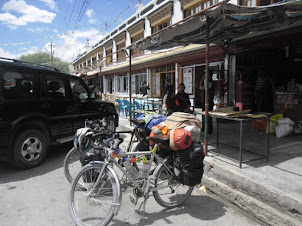 The Bicycles of Ryan and Eirika at Nimo village Where they stopped for lunch.