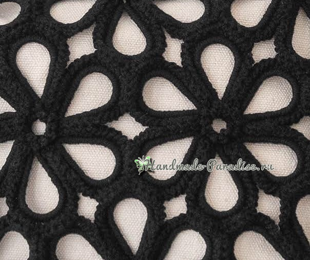 Схемы вязания крючком сумки цветочными мотивами (5)
