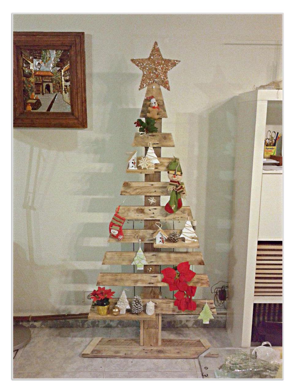 Las Manualidades De Sharon Arbol De Navidad Con Un Pale - Manualidad-arbol-navidad
