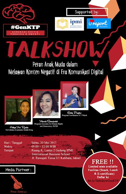 Talkshow : Peran Anak Muda dalam Melawan Konten Negatif di Era Komunikasi Digital