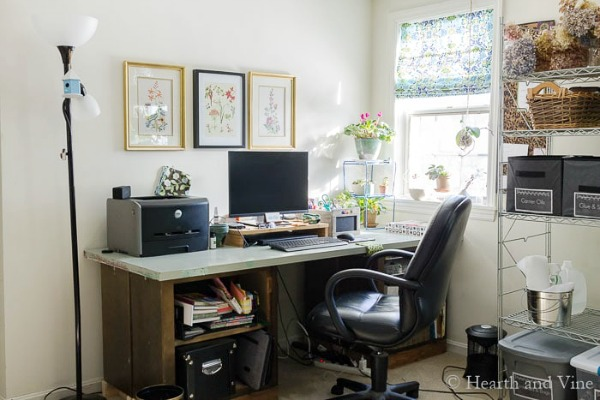 turn a mess into an organized and functional home office