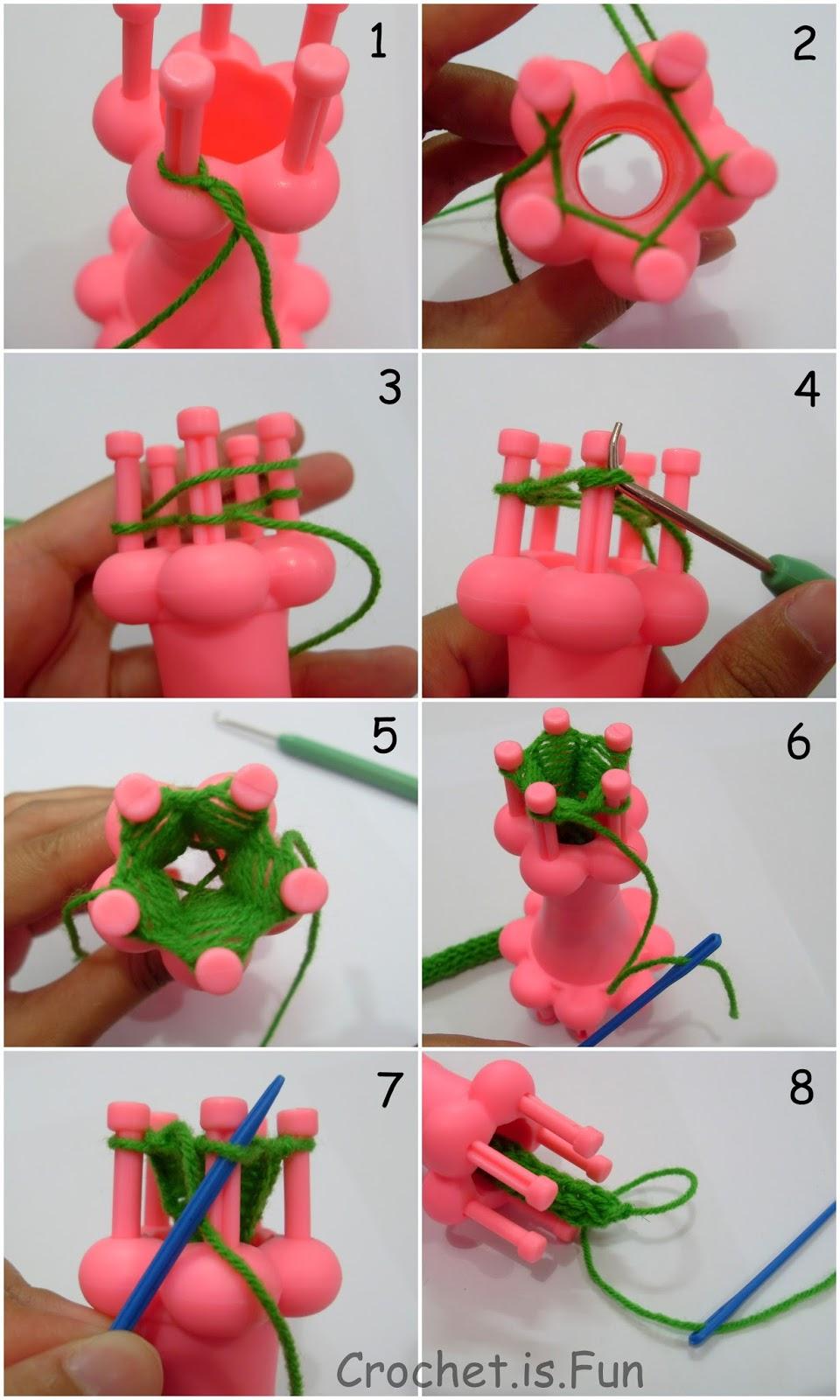 Crochet.is.Fun: Tutorial: How to spool knitting