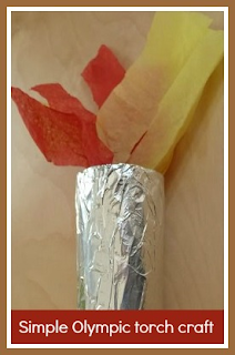 Simply Olympic torch craft