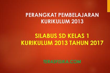 Download Silabus SD Kelas 1 Kurikulum 2013 Revisi 2017