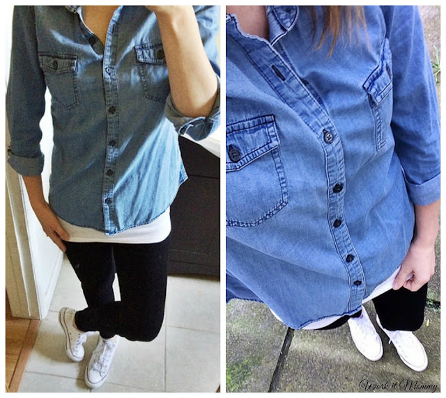 chambray and white converse
