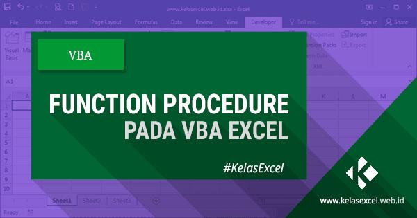 Function Procedure Pada VBA Excel