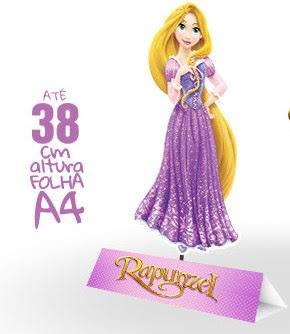 Rapunzel Free Printable Centerpieces.
