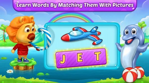 Learn words by matching them with pictures