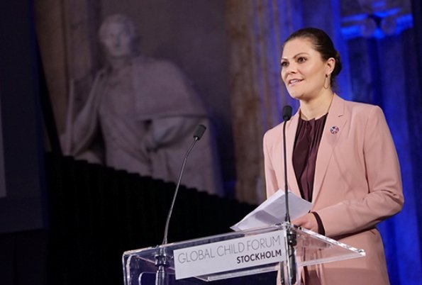 Crown Princess Victoria wore Filippa K Jacket and Trousers. Queen Silvia, Princess Sofia of Sweden and Dutch Princess Laurentien wore floral jumpsuit