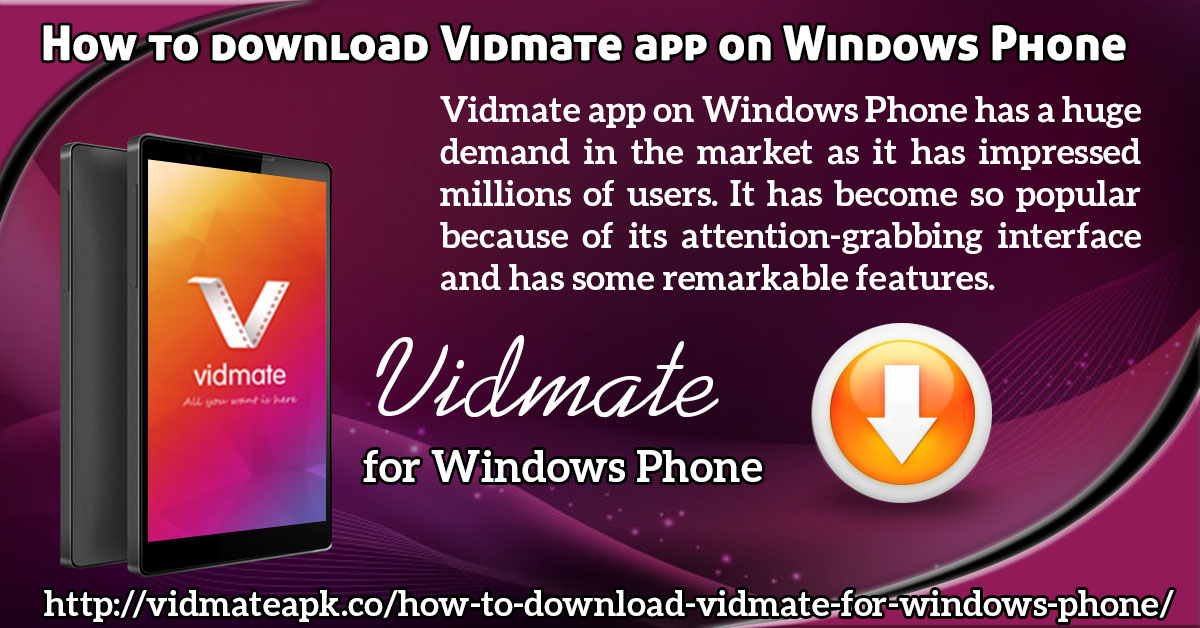 Vidmate windows Phone